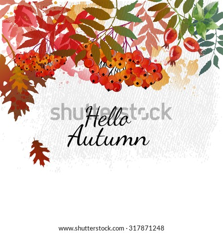 hello autumn autumn vector