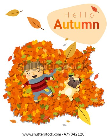 hello autumn background with