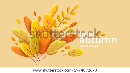 hello autumn 3d minimal
