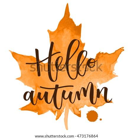 hello autumn hand written