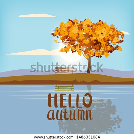 hello autumn landscape tree