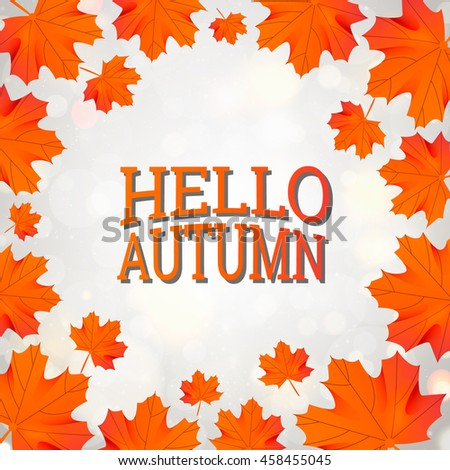 hello autumn template with