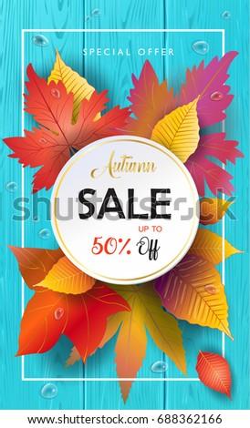 hello autumn vector...