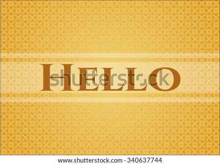 Hello card with nice design