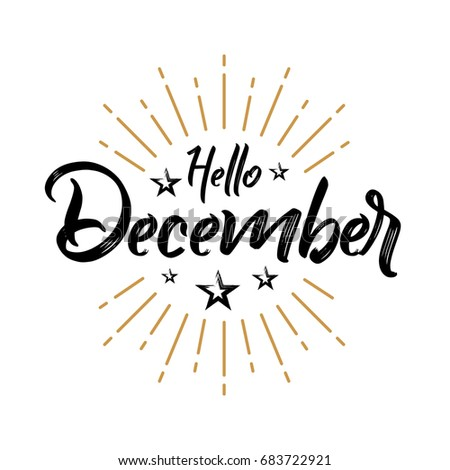 Hello December - Firework - Vector for greeting, new month