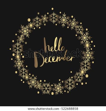 Hello December. Print Design