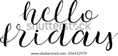hello friday postcard hand