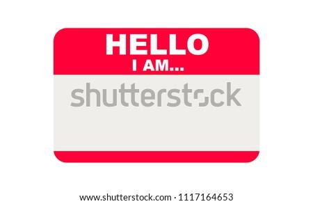 Hello, I am..., Sticker Vector