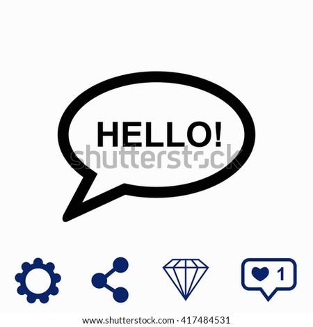 hello icon universal icon to
