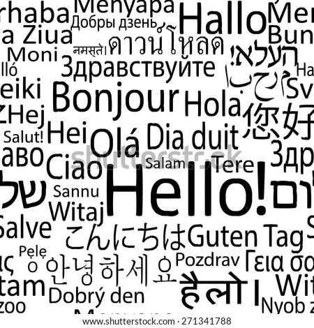 hello in different languages of