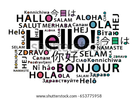 Hello world download free vector art stock graphics images hello in different languages vector print design m4hsunfo
