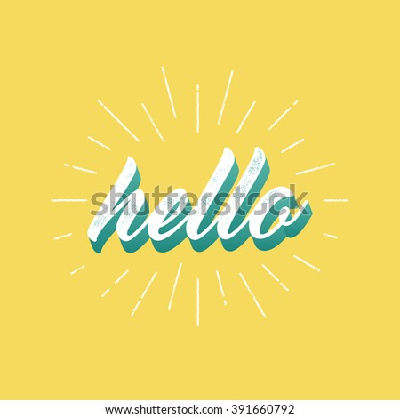 hello   lettering for greeting