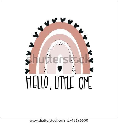 Hello little one  Rainbows baby vector illustration Stock photo ©