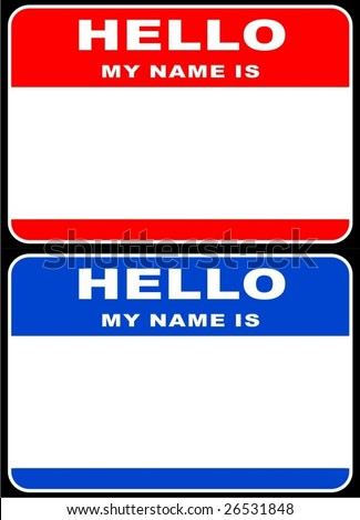 Hello my name is card VECTOR - stock vector