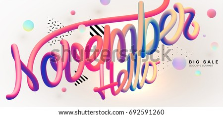 hello november lettering