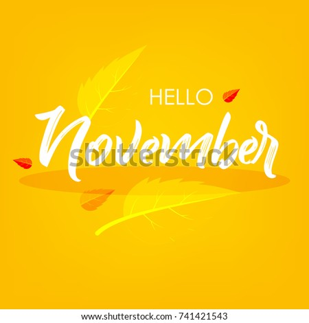 Hello November, Vector Illustration design background.