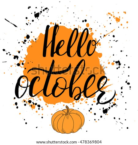 hello  october template with