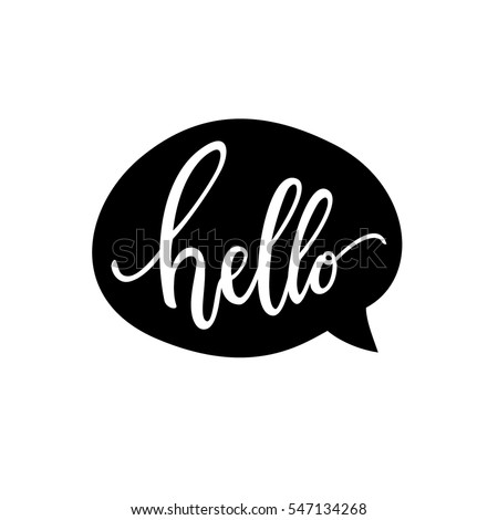 hello quote message bubble