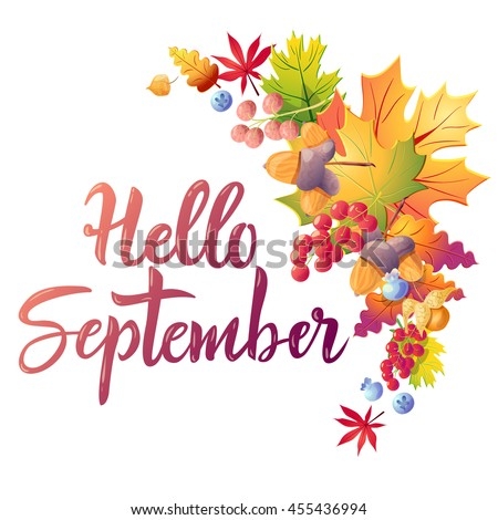 hello september colorful