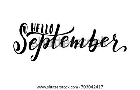hello september  hand drawn