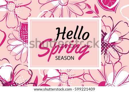 hello spring banner template