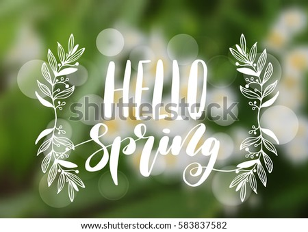 hello spring hand drawn