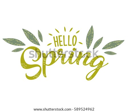 hello spring hand sketched