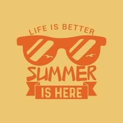 Hello summer artwork –The beach enjoy time and sunest california t-shirt apparel trendy heppy feel vector art design.