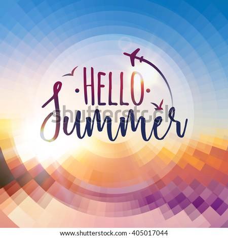 hello summer background summer