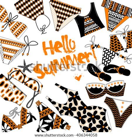 hello summer  background with