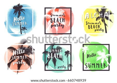 hello summer beach party aloha