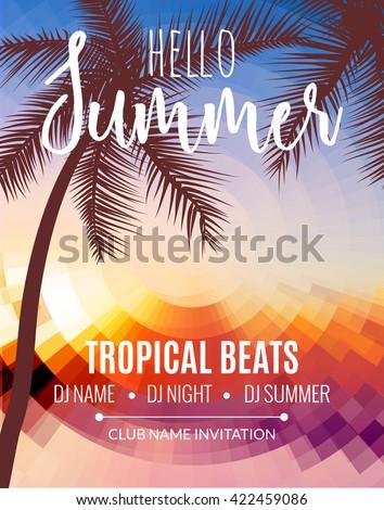 hello summer beach party