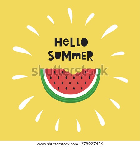 hello summer card design