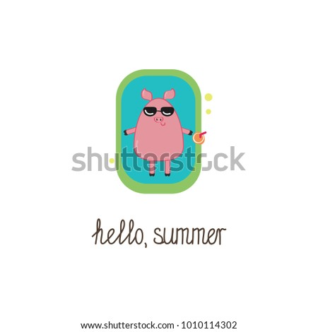 hello summer gift card with