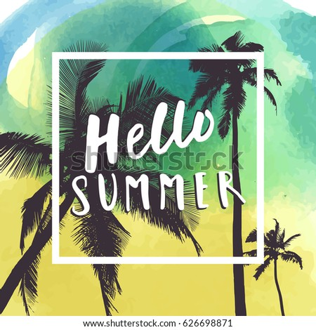 hello summer hand drawn summer