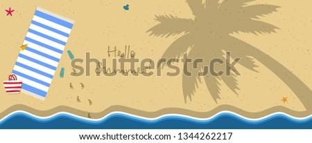 hello summer horizontal banner