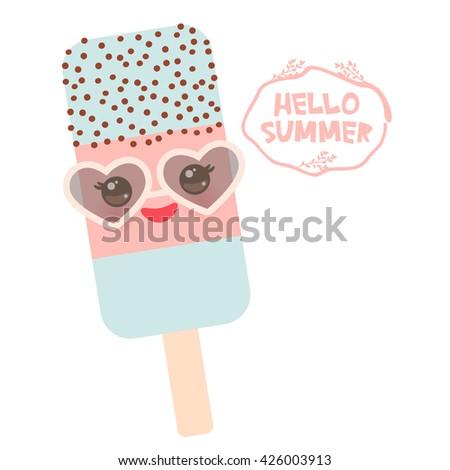 hello summer ice cream  ice