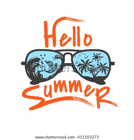 hello summer label for your...