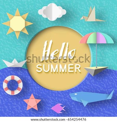 hello summer paper applique
