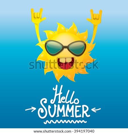 Funny Sun Face Cartoon Free Vector / 4Vector