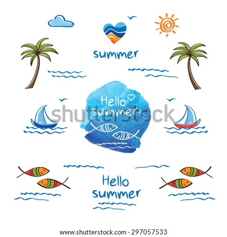 hello summer symbol of summer