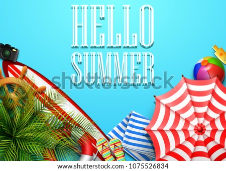 hello summer time holiday