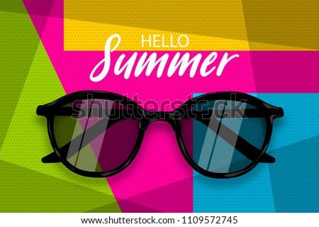 hello summer time vector pop