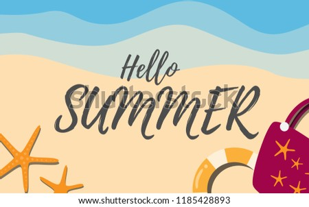 hello summer vacation poster