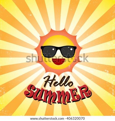hello summer  vector illustrator