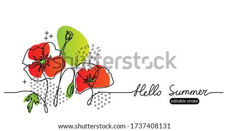 hello summer vector web banner