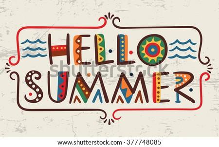 hello summer words in ethnic