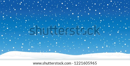 Hello Winter Blue winter landscape with funny Snowmen snowman Vector eps falling snow falling snowflake snowflakes Merry Christmas and Happy New Year xmas Shining snowfall snowball balls december ice