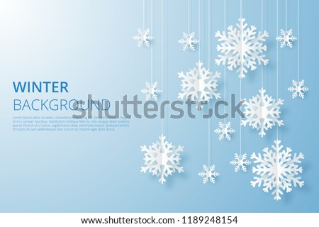 stock-vector-hello-winter-design-background-origami-snowfall-vector-illustration