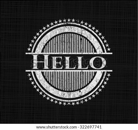 Hello with chalkboard texture